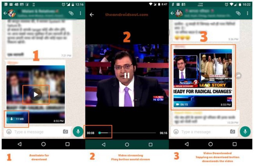 videos sin necesidad de descarga en WhatsApp