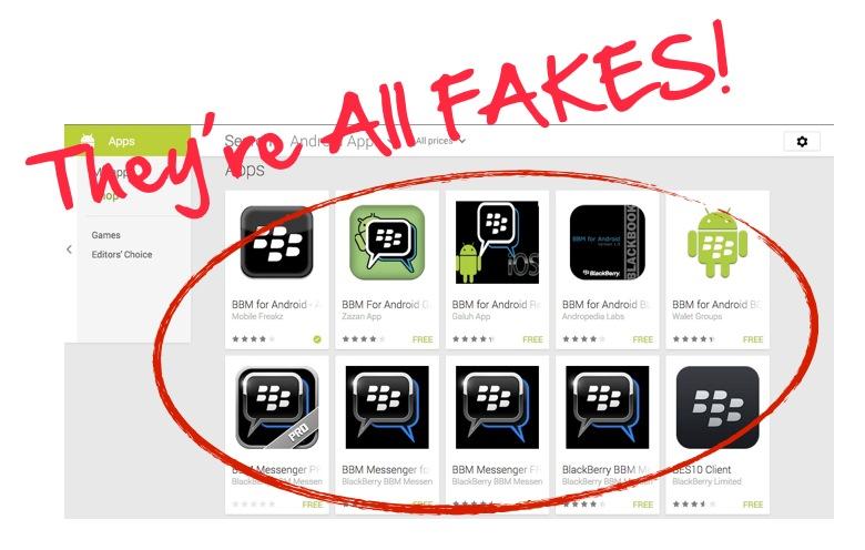 BBM-fakes
