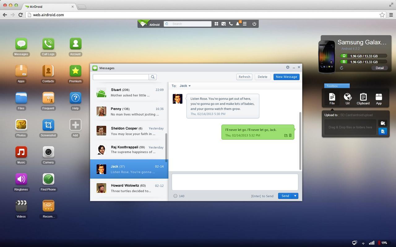 AirDroid es la opción por excelencia en Android.