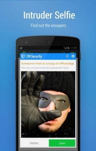 Si alguien intenta abrir una app protegida sin el código la cámara frontal le tomará una foto.