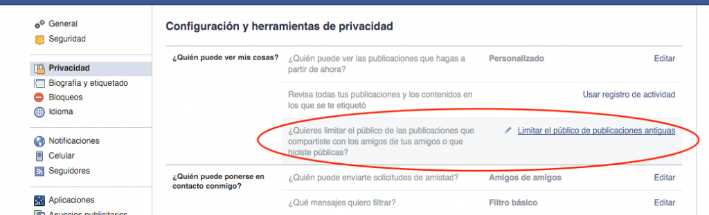 limit post facebook
