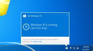 La famosa ventana emergente que invita a los usuarios a actualizar su Windows.