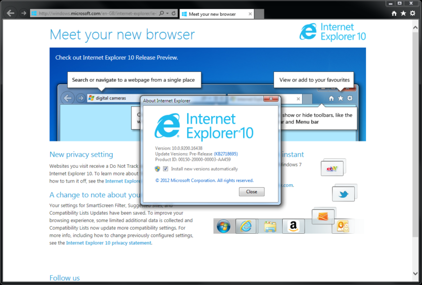 Internet Explorer 10.0
