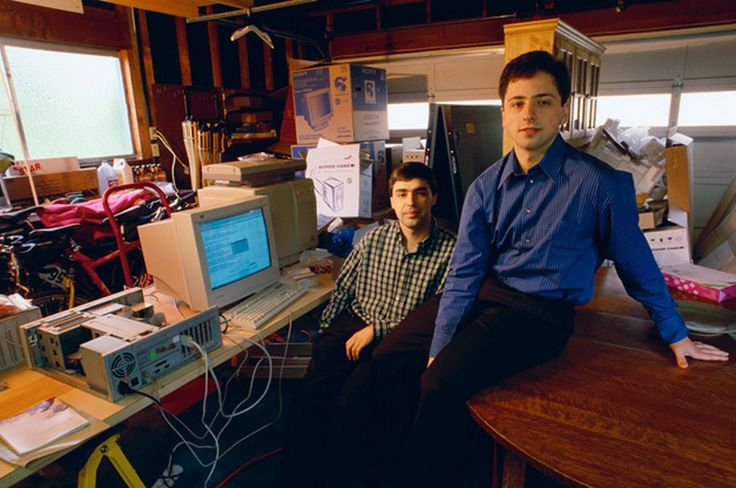 Los fundadores de Google, 1998.