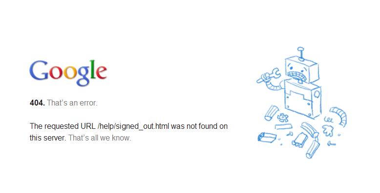 google-error-404