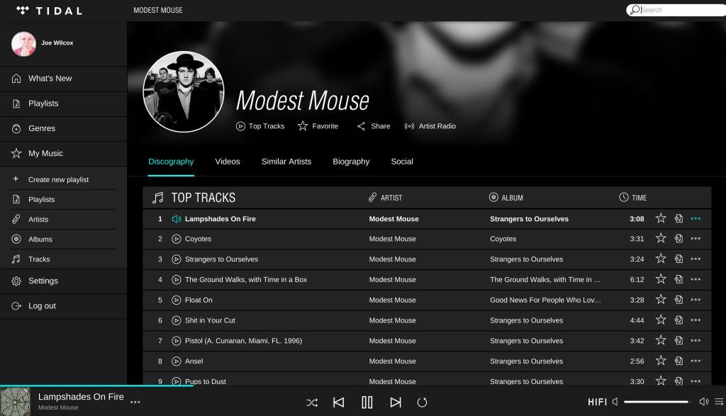 Aunque Tidal ofrece un formato sin pérdidas, en el resto de sus características el servicio se asemeja mucho a Spotify.