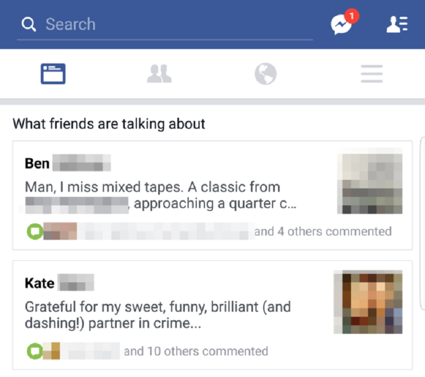 facebook test what friends are talking about