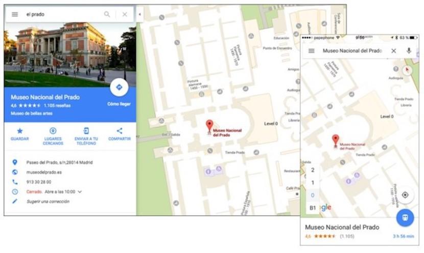 interior de lugares gracias a Google Maps