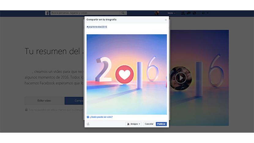 vídeo resumen Facebook 2016