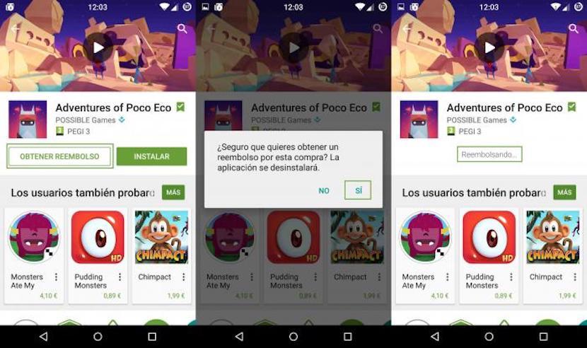 devolver aplicaciones en Android