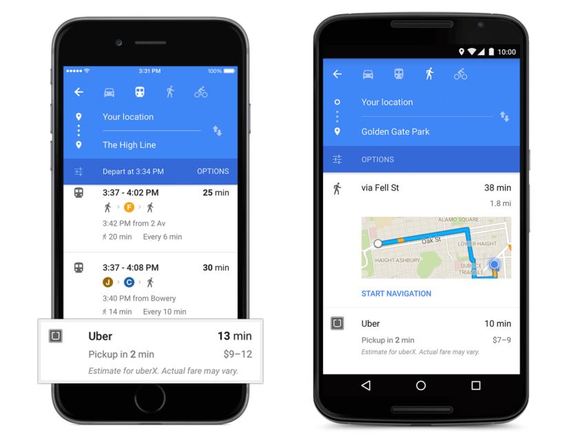 Uber y Maps