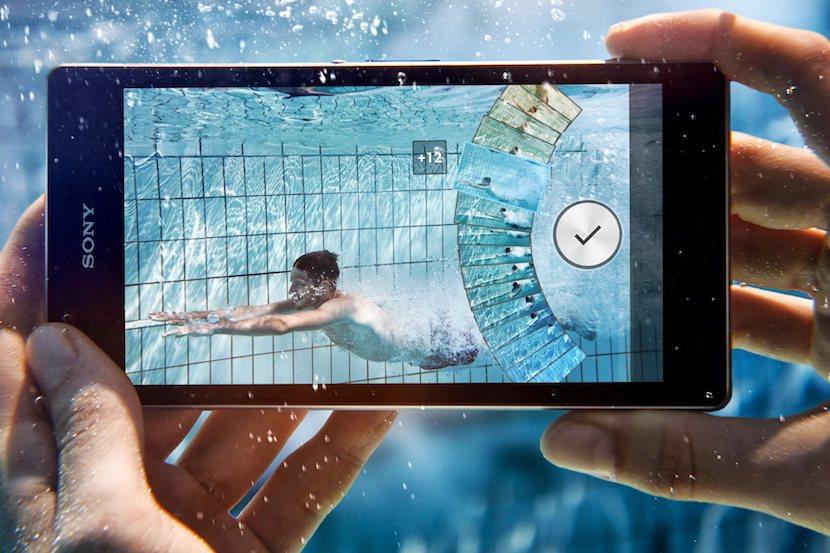 pantallas bajo el agua
