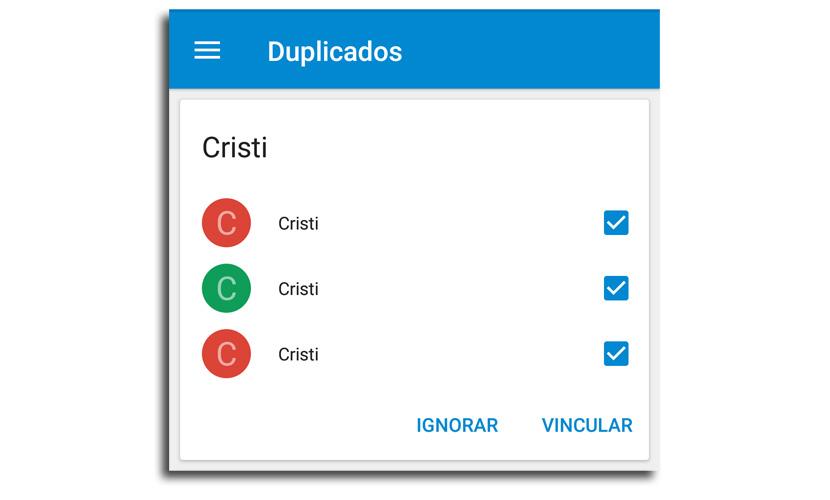 contactos duplicados