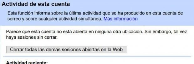 gmail_actividad de la cuenta