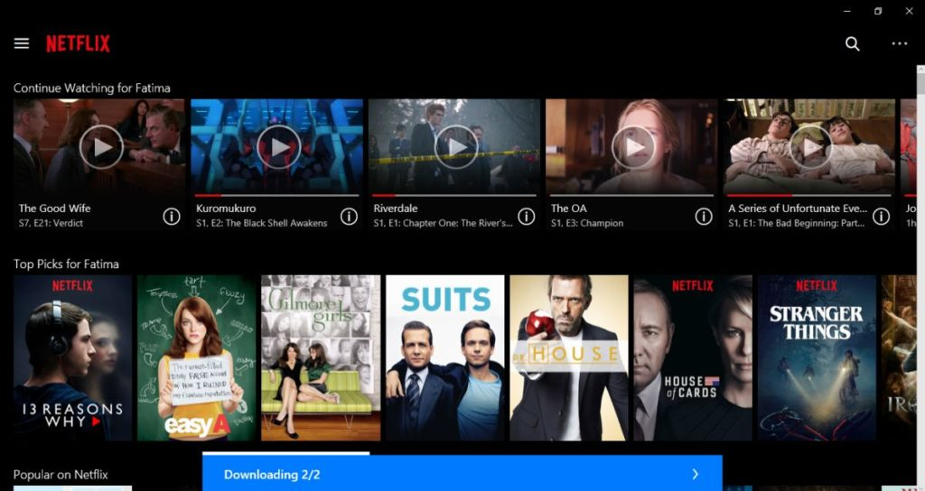 netflix windows 10 2