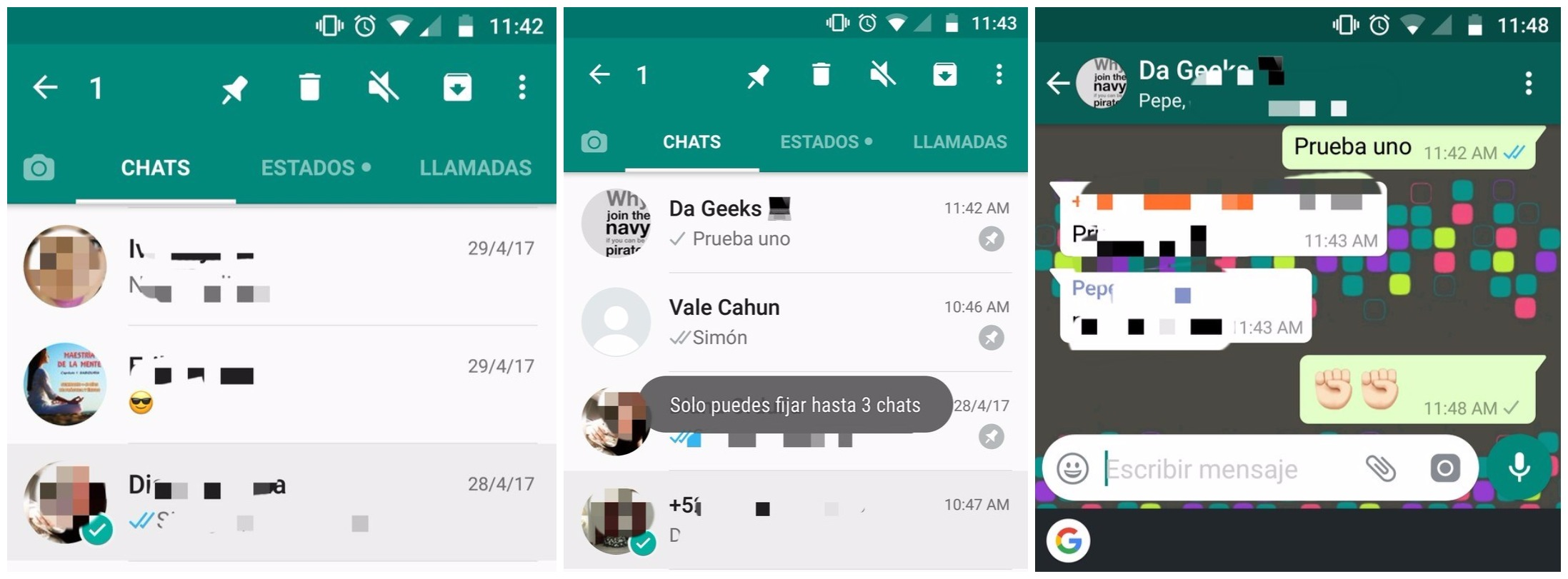 whatsapp fijar chats