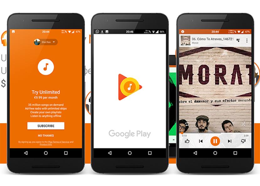 reproductores de música en Android