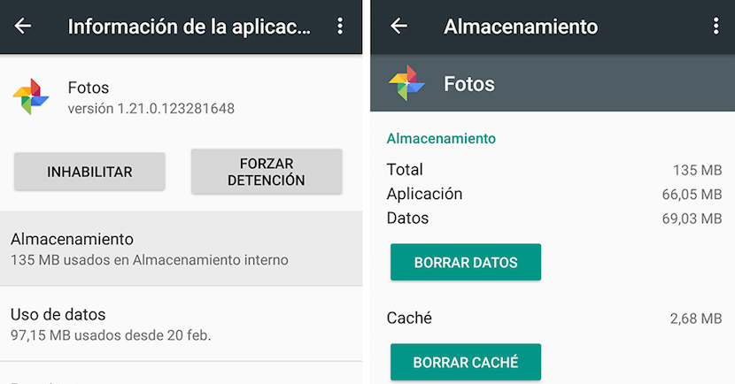 borrar caché o datos de las aplicaciones en tu celular