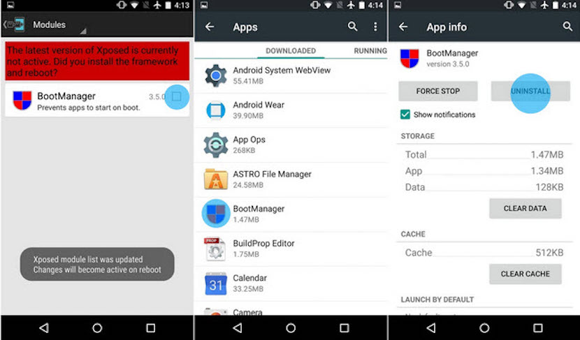 descativar aplicaciones en Android