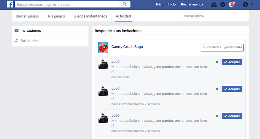 desactivar notificaciones en Facebook