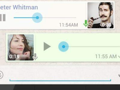 mensaje de voz WhatsApp