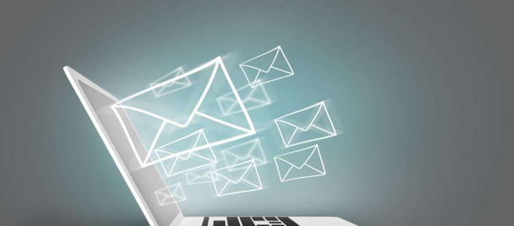 Gmail, Email o correo concept with laptop