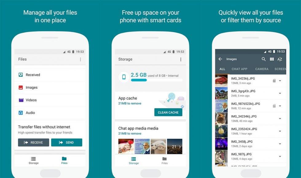 Google Files Go, la app para hacer espacio en tu celular