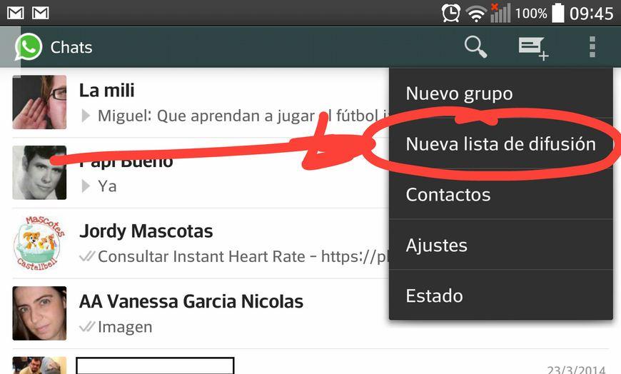 WhatsApp Nueva Difusión