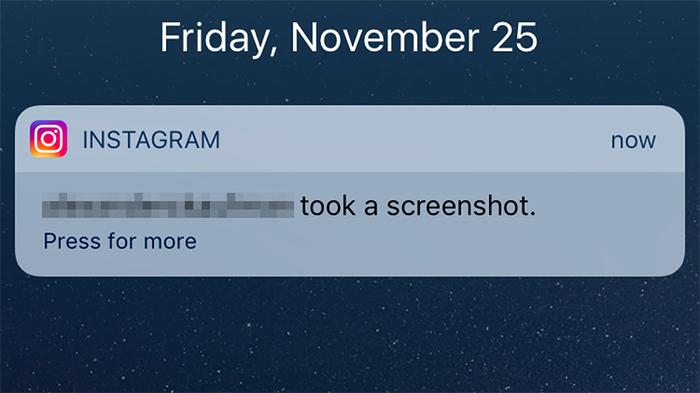 Instagram te avisará cuando capturas una historia