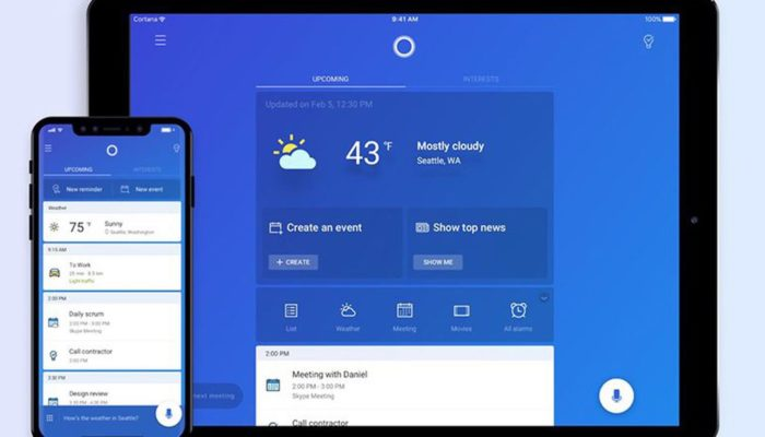 Cortana para el iPad