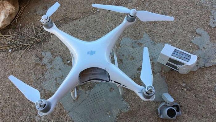 Drone estrellado