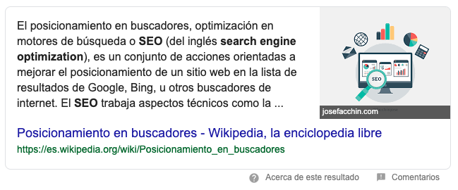 SEO - featured snippet