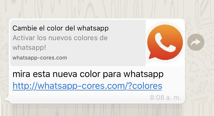 Cambie el color de WhatsApp
