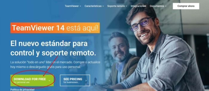 TeamViewer - acceso remoto