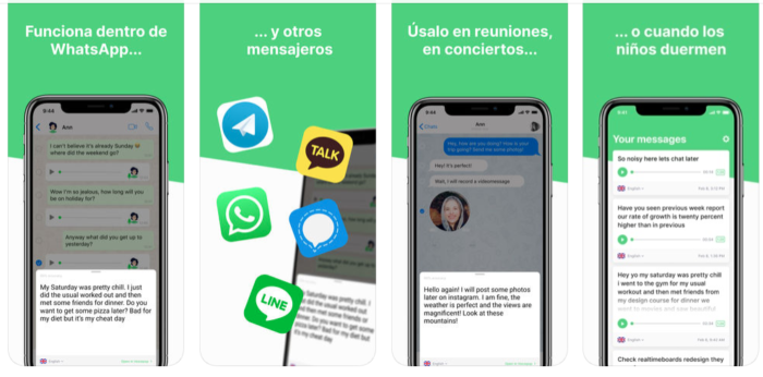 Transcribir audios WhatsApp