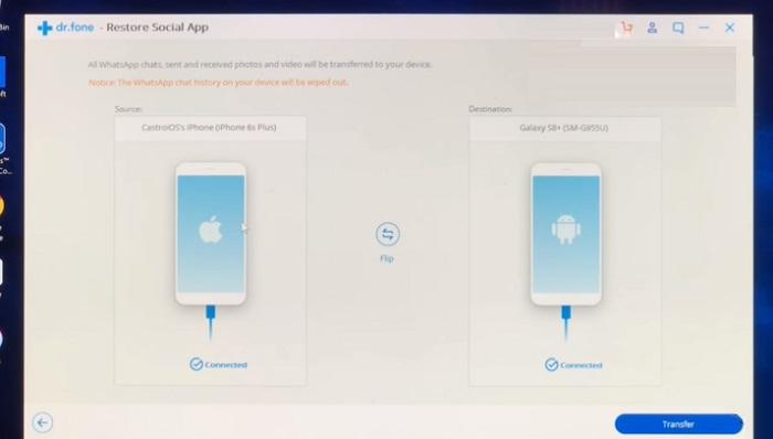 pasar datos de WhatsApp de IOS a Android